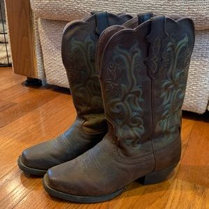 Women's Justin Leather Cowboy Boots
